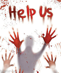 BLOODY-VICTIM-BODY-HAND-PRINTS-HELP-US-Door-Cover-Wall-Mural-Horror-Decoration