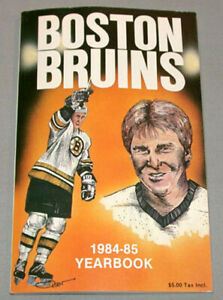 NHL-1984-85-Boston-Bruins-Official-Hockey-Media-Guide-Yearbook