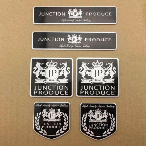 6x JP Auto Car Emblem Aluminum Decal Sticker Badge VIP Junction Produce