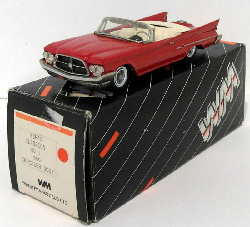 Kims Classics By Western 1 43 Scale No.1A - 1960 Chrysler 300F ConGrünible - rot  | Zart