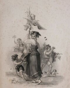 1837-PRINT-NAPLES-FINDENS-TABLEAUX-NATIONAL-CHARACTER-amp-COSTUME