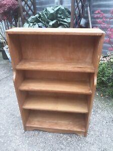 Vintage-Old-Wooden-Bookcase-Storage-Shelves