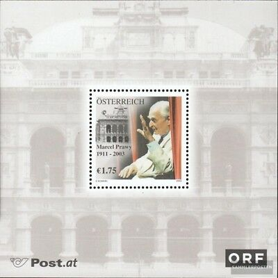 Used 2003 Marcel Prawy Year-End Bargain Sale complete Issue Austria Block19