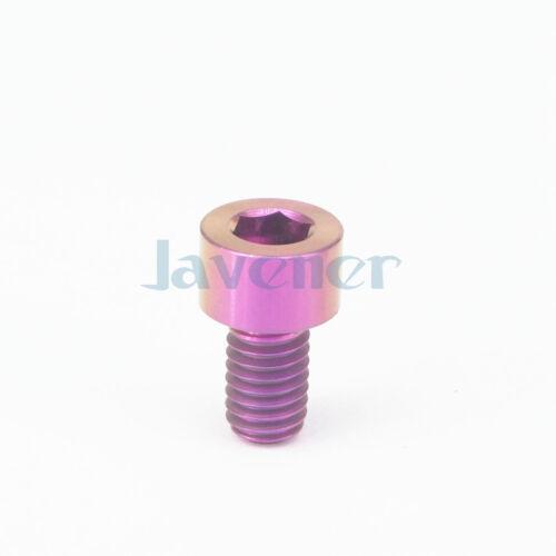 LOT 4 M6 x 10mm Purple GR5 Titanium Screw Column Head Bolts