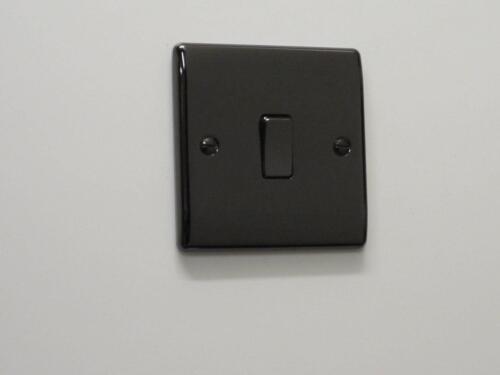 Masterplug Nexus Single Light Switch 2 Way 10ax Black Nickel