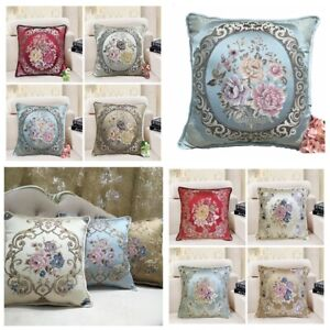 """Brocade Vintage Jacquard Floral Throw PILLOW COVER Bed Sofa Cushion Case 18x18/"""""""