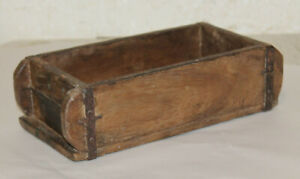 Rustic-Primitive-Farmhouse-Decor-Vintage-Wooden-Brick-Mold-Box-12x6x4