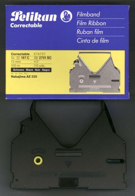 501 721, 1x PELIKAN carbon Farbband Gr 511 159 C Schwarz für Brother EM 701