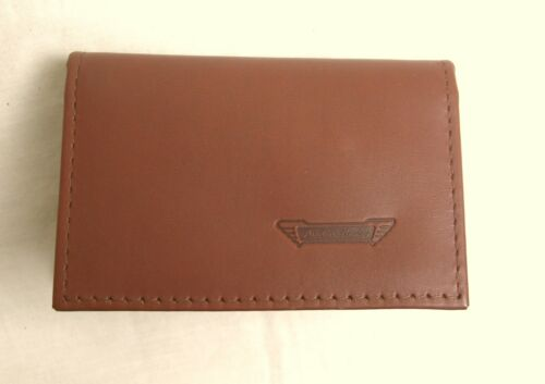 Austin Healey logo Brown Leather credit card size driving licence holder vs933