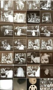 Zelluloid Sparsam 16mm Privatfilm 1935 Weihnachten Bescherung Familie #29