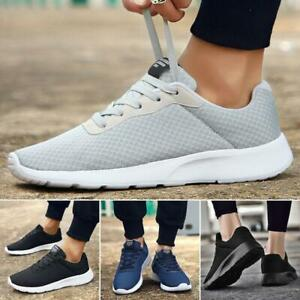New AU Mens Womens Sneakers Breathable Running Casual Lace Up  Sports Shoes Size