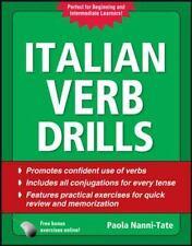 Italian Verb Drills, Third Edition (Drills Series) Nanni-Tate, Paola Paperback