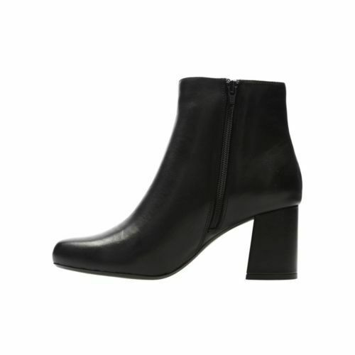 6 Uk Rrp 5 £80 kermis Women's 7 Black Leather Clarks Boots Ankle Uma P8z8qAx0