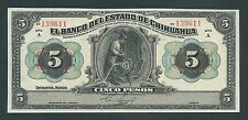 F.C. MEJICO MEXICO , CHIHUAHUA , 5 PESOS 1913 , S/C ( UNC ) , S/A , P.S132a .