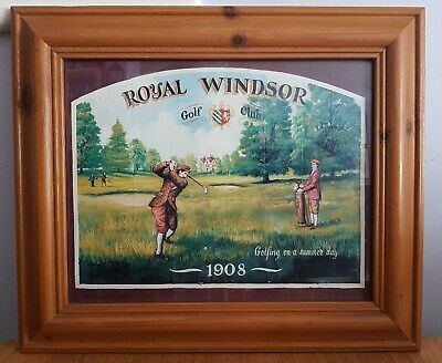 Royal Windsor Golf Club 1908 Art Print Advertisement Framed Glazed Wooden Sport Ebay