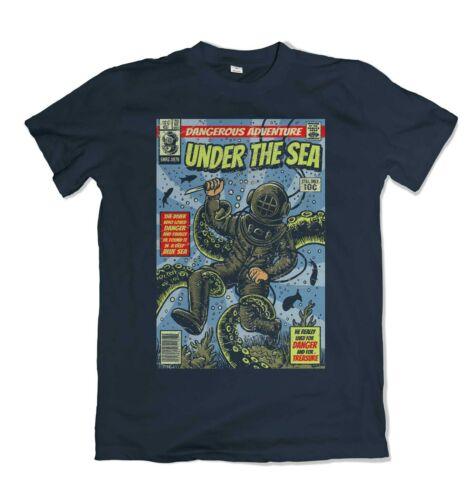 Under The Sea t shirt comics sailer deep sea S-3XL