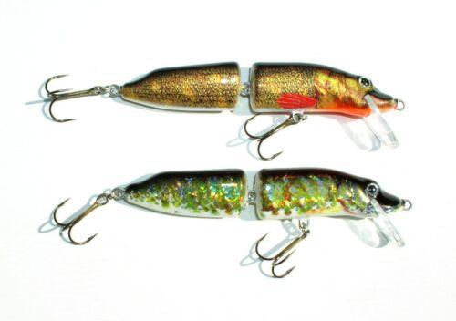 16 cm Holo Select Pike 12,+ 14 Hardbait 2 Colors Hecht Wobbler 2 teilig