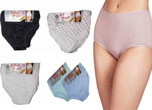 12 Ladies Full Mama Briefs 100/% Cotton Rich Underwear Knickers Bikini Panties