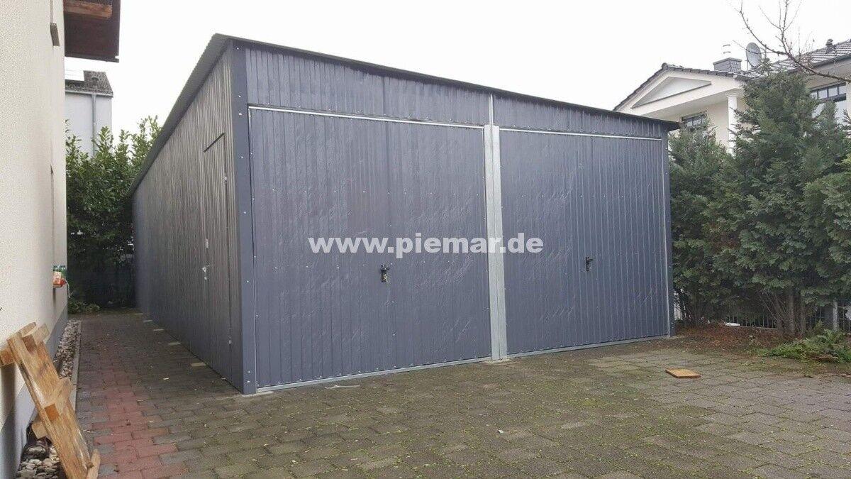 Blechgarage 6x9x2,5 verzinkt Garage Lager Halle verzinkten 4Kantpofilen NEU
