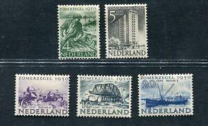 Nederland nvph 551/555 Zomerzegels 1950, ongebruikt MH