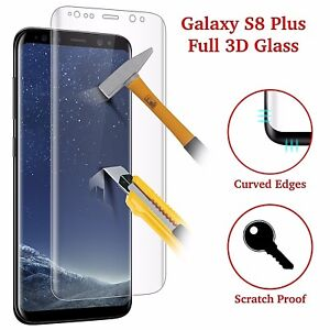 timeless design 237f4 7629b Details about For Samsung Galaxy S8 PLUS Full Curved Tempered Glass LCD  Screen Protector Clear