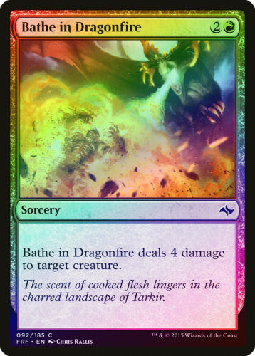 Bathe in Dragonfire FOIL Fate Reforged NM Red Common MAGIC MTG CARD ABUGames