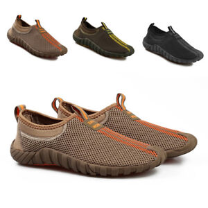 Outdoor-Men-039-s-Slip-on-Mesh-Sneakers-Running-Shoes-Hiking-Loafers-Walking-Casual
