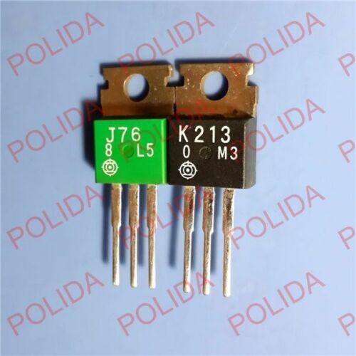 1pair Transistor HITACHI TO-220 2SJ76//2SK213 J76//K213 100/% Genuine and New