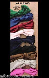 100-Silk-Jacquard-WILD-RAG-Scarf-Scarves-Cowboy-COLORS-09040