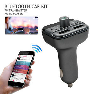 New-Bluetooth-Car-Kit-Wireless-FM-Transmitter-Dual-USB-Charger-Audio-MP3-Player