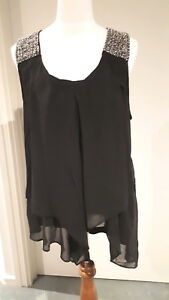 KATIES-SLEEVELESS-BEADED-TOP-Size-1XL-fits-16-18-rrp-59-95