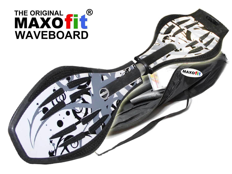 Waveboard MAXOfit® XL Hawaii Grau, bis 95 kg, mit Leuchtrollen