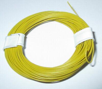 1m = 17,9 ct Hochflexible 0,04 mm² Decoderlitze 10m Ring   GELB --NEU