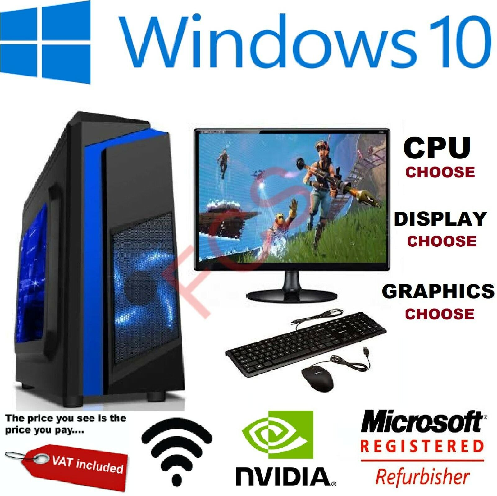 Cheap Custom Gaming PC Intel Core i7 Win10