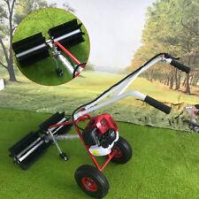 Gas Power Hand Held Sweeper Broom Cleaning Driveway Turf Grass Walk Behind 43cc
