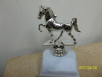 Equestrian Horse Award Or Trophy, Silver Figure, About 5.25 Tall, W/ Engraving