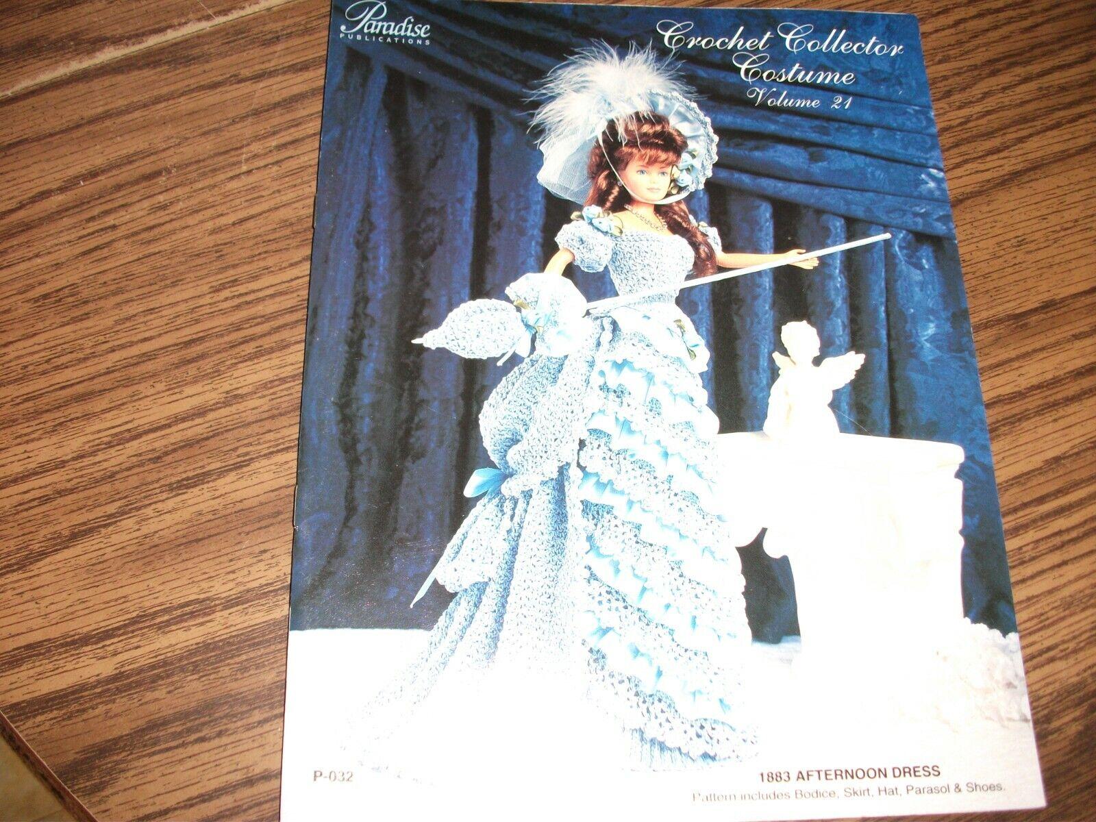 1883 Afternoon Dress for Barbie Doll Paradise Vol 21 Crochet PATTERN Leaflet