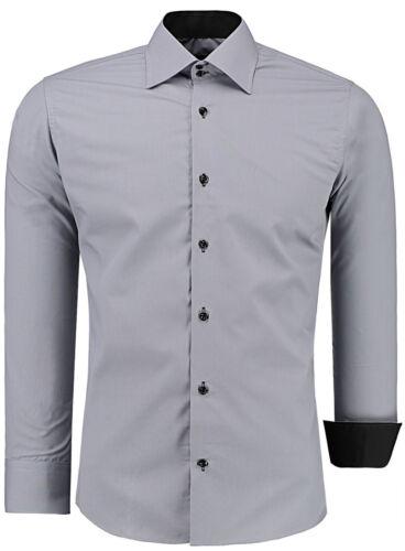 S-XXL ✔ ✔ Herren Hemd Basic Business Hochzeit Freizeit Polo Hemd Slim Fit ✔ Gr