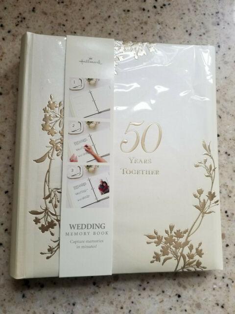 50th anniversary memory book for 50th wedding anniversary