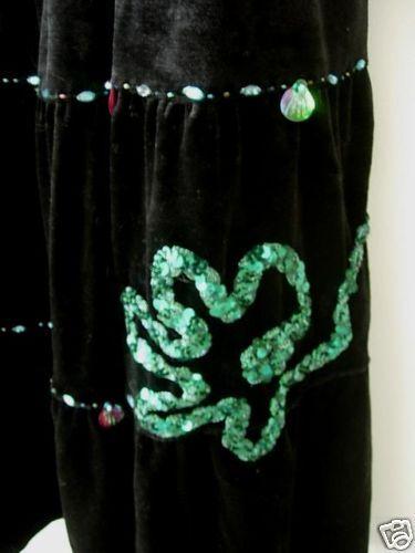 con Bellissima 3xl aqua nero taglia gonna in nuove con e velluto paillettes paillettes etichette qU14IwrU