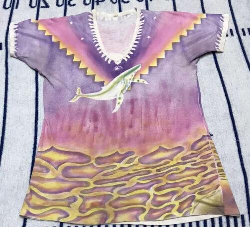 Vintage Whale Airbrush Shirt 70s Psychadelic Hippi