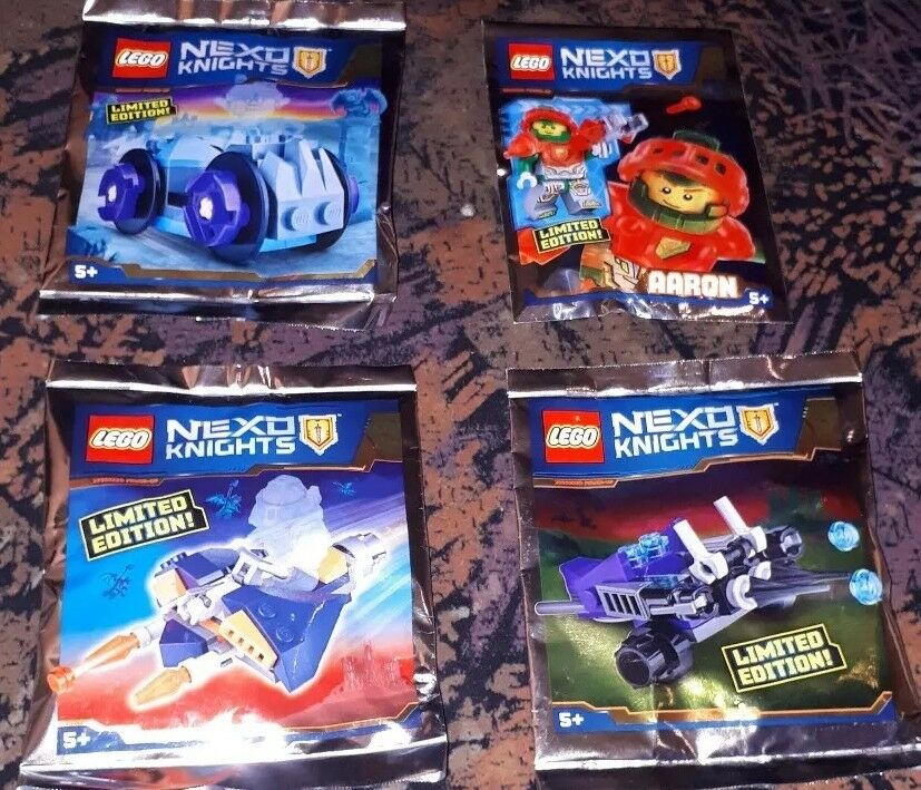 Lego Nexo Knights Knights Knights Sets - Limited Edition 4 Polybag Neu 6a0878