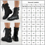 Damen-Mittel-Kalb-Boots-Blockabsatz-Militar-Knochel-Work-Stiefel-Stiefeletten miniatura 9