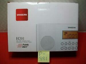 BRAND NEW SANGEAN H201 FM/AM/CERTIFIED WEATHER ALERT/WATERPROOF/SHOWER RADIO NIB