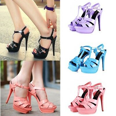 Celebrity Womens Stiletto Roman Shoes Strappy Pumps Gladiator High Heels Sandals