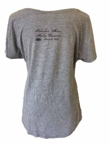 "Harley-Davidson Women/'s Gray w// pink /""redemption/"" short sleeve shirt Large"