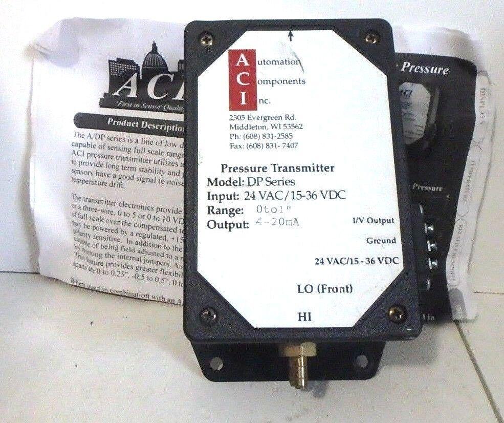 ACI Pressure Transmitter 24VAC   15-36VDC   DP6U