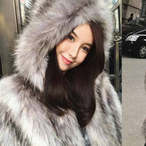 Thicken Fur Long Hooded Winter Coat Luxury Kvinders Overtrøjer Parkas Jacket Slim AqgYF6cE