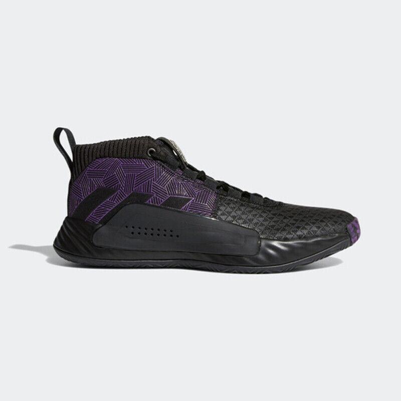 Adidas Dame 5 Noir Panther Damian Lillard Marvel Hommes Basket Chaussures EF2523