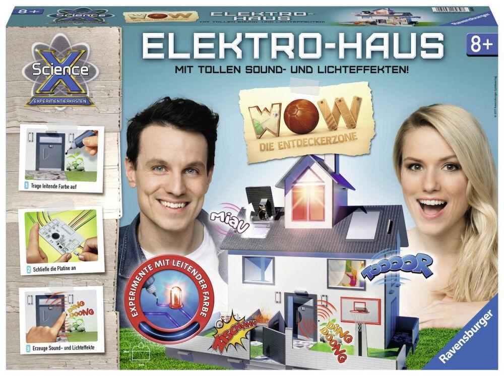 ELEKTRO-HAUS VON Ravensburger Ravensburger Ravensburger ® - EXPERIMENTIERKASTEN - X Science ® NEU   OVP dda359